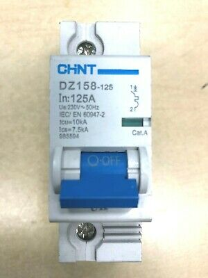 DZ158 80A 100A 125A AMP HIGH CURRENT DOUBLE POLE MCB CIRCUIT BREAKER CHINT