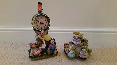 Childs musical ornament and clown clock