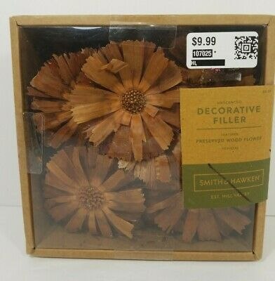 Unscented preserved wood flower Vase Bowl Decor Filler Natural Smith & Hawken™