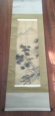 Old Asian Scenic Mountain Landscape Scroll Chinese ? Signed Beautiful!