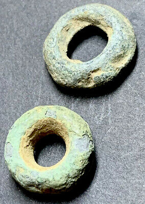 Ancient Roman Large Bronze Beads. 1st Century AD.