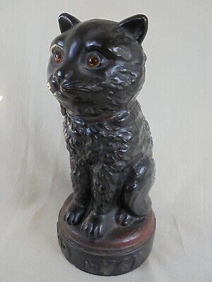 Good Luck Black Cat Figure In Excellent Condition - Rare Antique Collectable