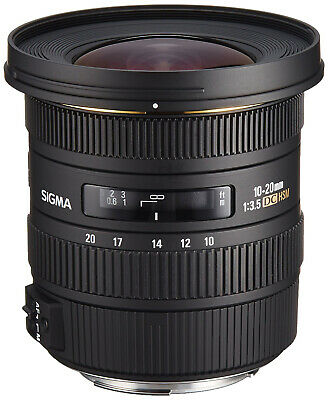 Sigma 10-20mm f/3.5 EX DC HSM Wide Angle Lens for Canon (Sigma 4Y USA Warranty)