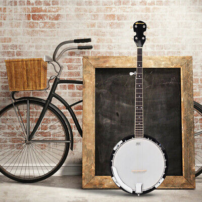 5 String Sonart Geared Tunable Banjo 24 Brackets Closed Back Remo Head with Case