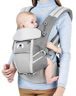 Meinkind Baby Carrier, 4-in-1 Convertible Carrier Ergonomic Soft Breathable Baby