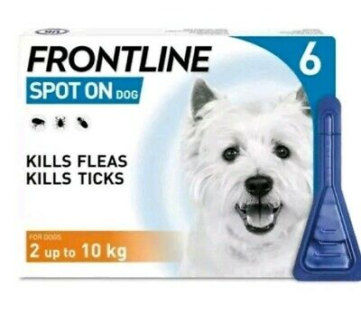 Frontline Spot On Flea For Small Dogs  2-10kg 6 Pipettes AVM-GSL (EXP:10/2021)