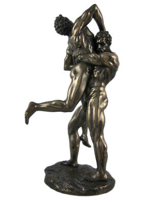 Hercules and Anteus Bronze Finish Statue Greek Myth