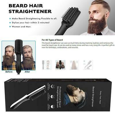Multifunctional Men's Quick Beard Straightener Hair Set Curler Curling Comb O8Q8