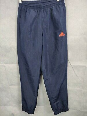 mens Adidas Track Suit Bottoms Joggers Blue Sports Wear Size 36/38