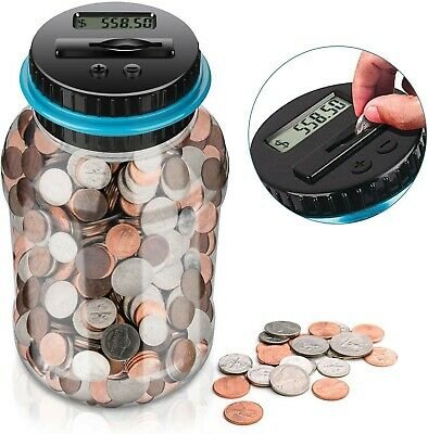 Piggy Bank Coin Storage Box Digital Counter Kids Tall Money Safe Women Boob Case
