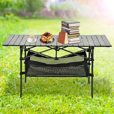 Camping Catering Heavy Duty Folding Table Trestle Picnic Bbq Party Portable