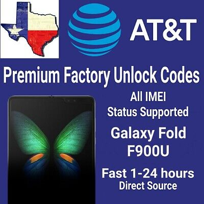 AT&T Premium Factory Unlock Code Service For AT&T Samsung Galaxy Fold F900U