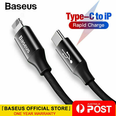 Baseus PD 2A 18W Fast Charging Type C to Lightning Cable for iPhone XS X 8 8P 11