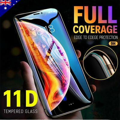 Apple iPhone11 Pro Max XS XR 8 7- 11D Full Cover Tempered Glass Screen Protector