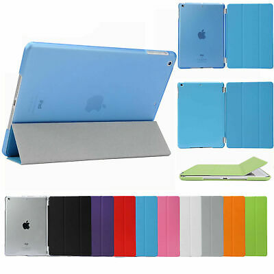 Smart Cover Hard Back Case for Apple iPad 6th Gen iPad 6 5 4 3 2 mini Air Pro