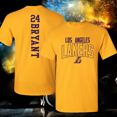 Los Angeles Lakers Kobe Bryant 24 Cotton T-Shirt S-5X Priority Available