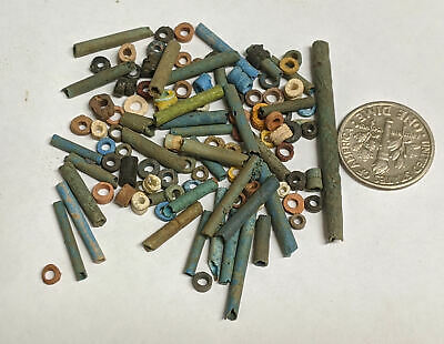 More than a Hundred 2500 Year old Ancient Egyptian Faience Mummy Beads (#L4224)