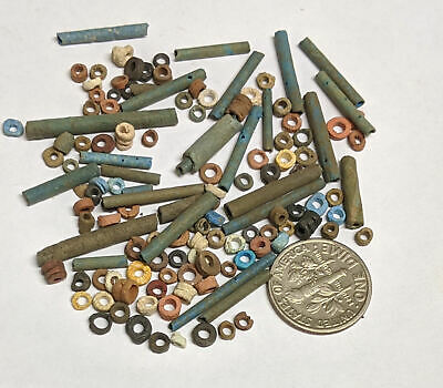 More than a Hundred 2500 Year old Ancient Egyptian Faience Mummy Beads (#L4225)