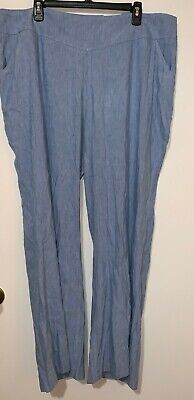 Women's Pants INC Wide Leg Regular Fit Plus Light Blue Size 18W NWT