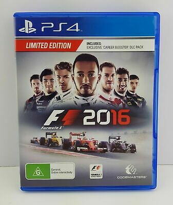 Mint Disc Playstation 4 Ps4 F1 2016 Formula One 2k16 16 - Limited Edition