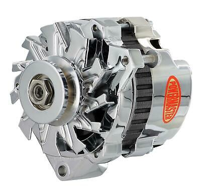 Powermaster Street Alternator 60 Amps Chrome Plated 12V Ford 1G Case 17078