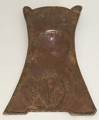 Antique Arts & Crafts Copper Dish