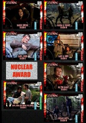 CATASTROPHIC WAVE 1 NUCLEAR 6 CARD SET + AWARD Topps WALKING DEAD DIGITAL TRADER