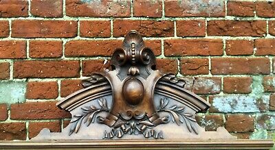 French Extra Large Rare  Pediment