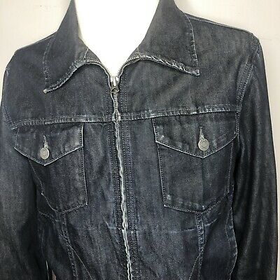 Gap 1969 Blue Jean Ring-Spun Denim Jacket Trucker Style Zipper Size M