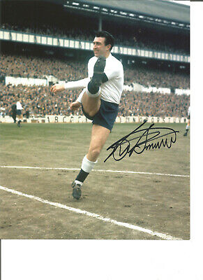 Football Autograph Bobby Smith Spurs Tottenham Signed 10x8 inch Photograph JM246