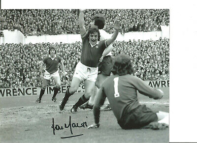 Football Autograph Lou Macari Manchester United Signed 10x8 in Photograph JM258