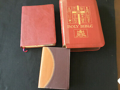 3 Holy Bible O'Connell Oxford annoted Bible Zondervan NIV study Bible Leather