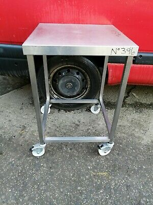 No396 Stainless Steel Table  On Castors 600Mm X 600Mm X 910Mm High