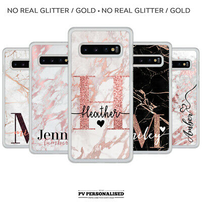 Personalised Initials Name Plastic Phone Cover Case For Samsung Galaxy S8 S9 S10