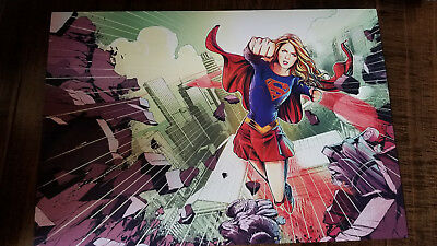 2018 Sdcc Comic Con Exclusive Abrams Dc Wb Supergirl Atlantis Promo Plakat