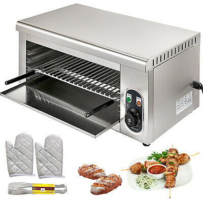 Electric Cheese Melter Salamander Broiler 2000W BBQ Grill 50-300℃ Multi-Function