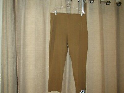 CHICOS CHICO'S 3 womens XL 16 brown pants pull on elastic waist 36 x 28