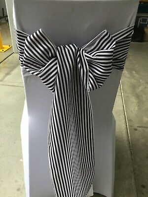 50 Black And White Pin Stripe Sash 500 Available