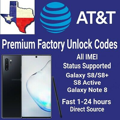 AT&T Premium Unlock Code Service For AT&T Samsung Galaxy Note 8/S8 Plus Active