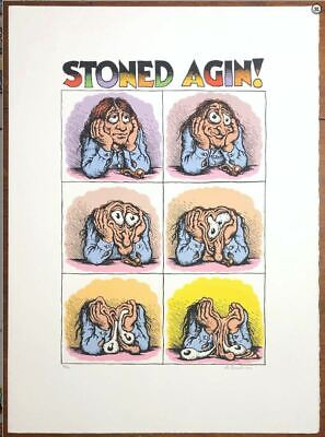STONED AGIN! rare Robert Crumb 18 Color Serigraph Print Poster S/N out of 170
