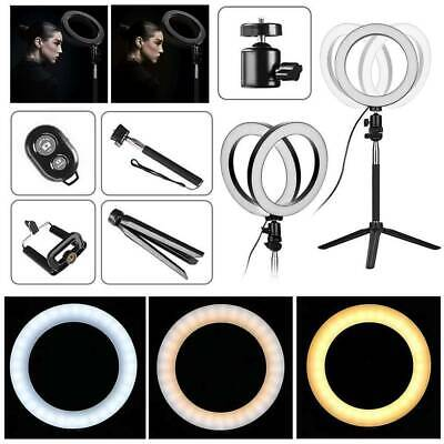 LED Ring Light Studio Webcast Video Dimmable Lamp Tripod Stand Selfie Camera