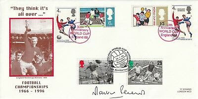 1996 Martin Peters Hand Signed England Winners Anniversary Football Cover