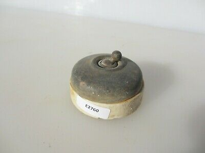 Vintage Ceramic Light Switch Toggle Dolly Brass Old Antique Art Deco 1920's