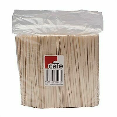 """My Café MY00011 3842 Wooden Coffee Stirrers, Pack of 1000 7.5"""" 18.5cm"""