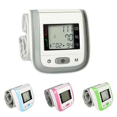 Medical Digital Automatic Pulse Blood Pressure Monitor Wrist Sphygmomanometer US