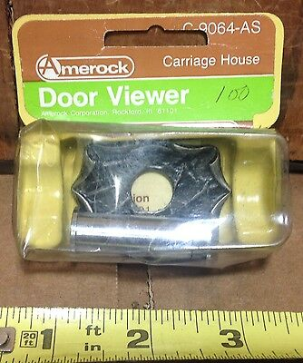 Amerock Carriage House Security Door Viewer Silver #C-9064-AS set - NOS