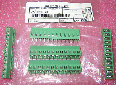 Lot 5 Phoenix Contact 1715129 12 Pos Side Entry 5MM Terminal Block PCB Mount