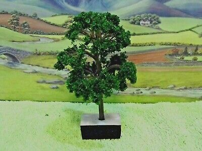 PACK of  6  MODEL TREES ( Dark Green ) for  Railway / Scenery 1/76 /OO ( New )