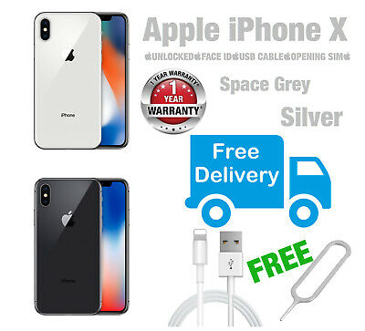 Apple iPhone X 64GB/256GB Space Grey . Silver - UNLOCKED Various Grades