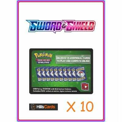 Sword & Shield Base Set Codes x 10 Pokemon Online Booster Pack Code Cards TCGO